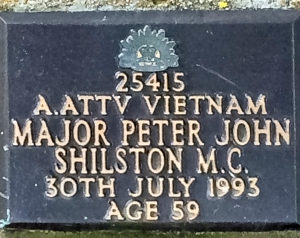Peter Shilston's memorial plaque at Ballarat New Cemetery