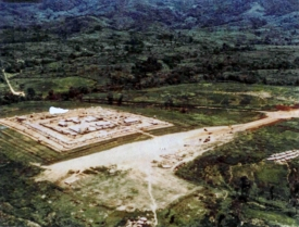 Aerial view of Dak Seang Special Forces Camp before the siege of April 1970.