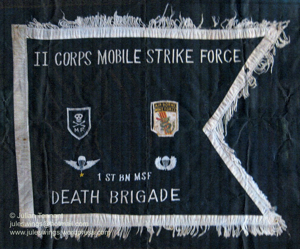 MIKE Force banner presented to Captain Peter Shilston MC (AATTV)