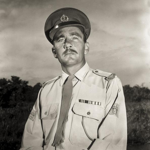 South Vietnam. June 1971. Portrait of Warrant Officer Class 2 (WO2) R. B. D. Rutherford, MM.