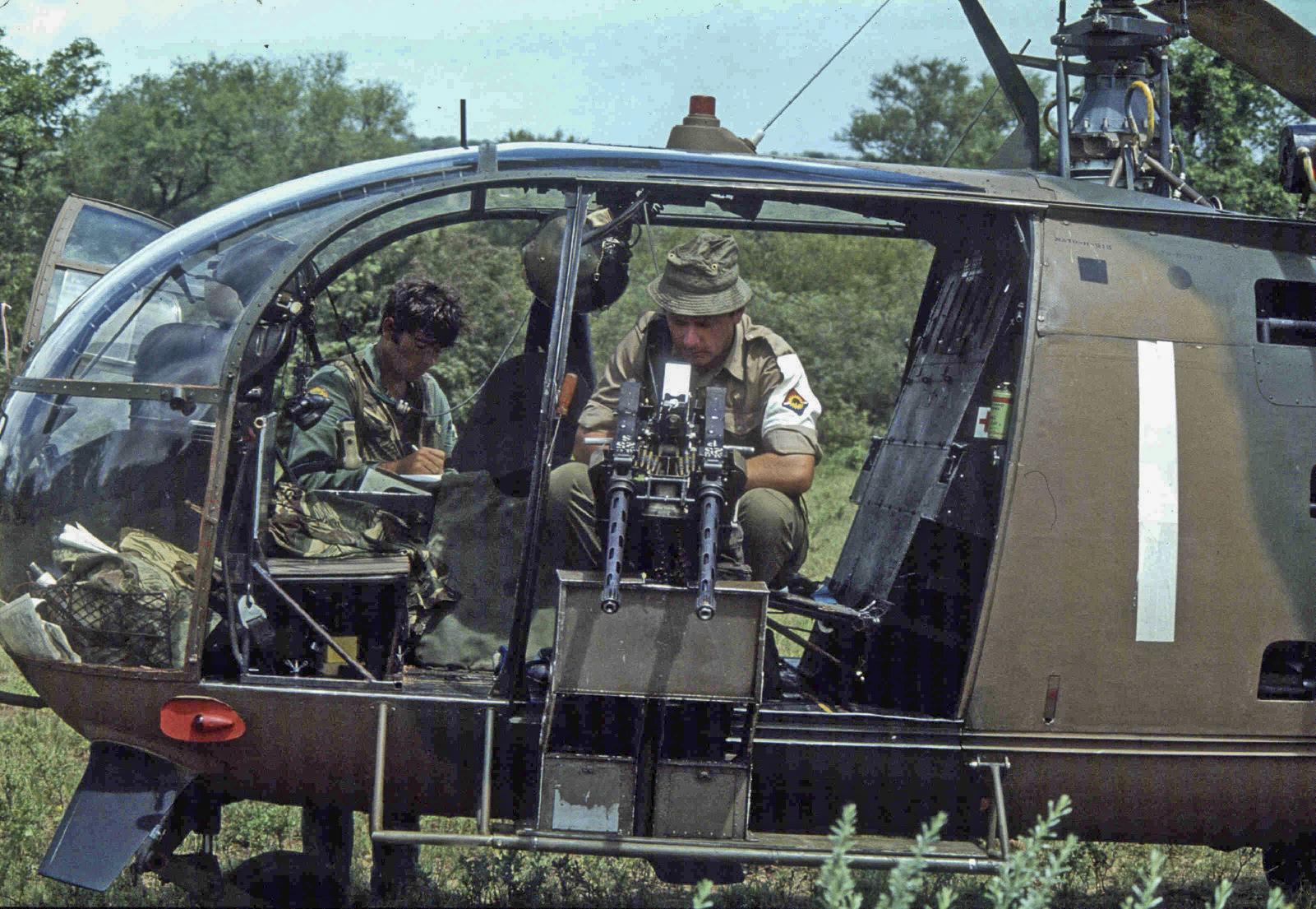 Alouette Gunship, Assembly Point Juliet, Zezani, Zimbabwe-Rhodesia 1980