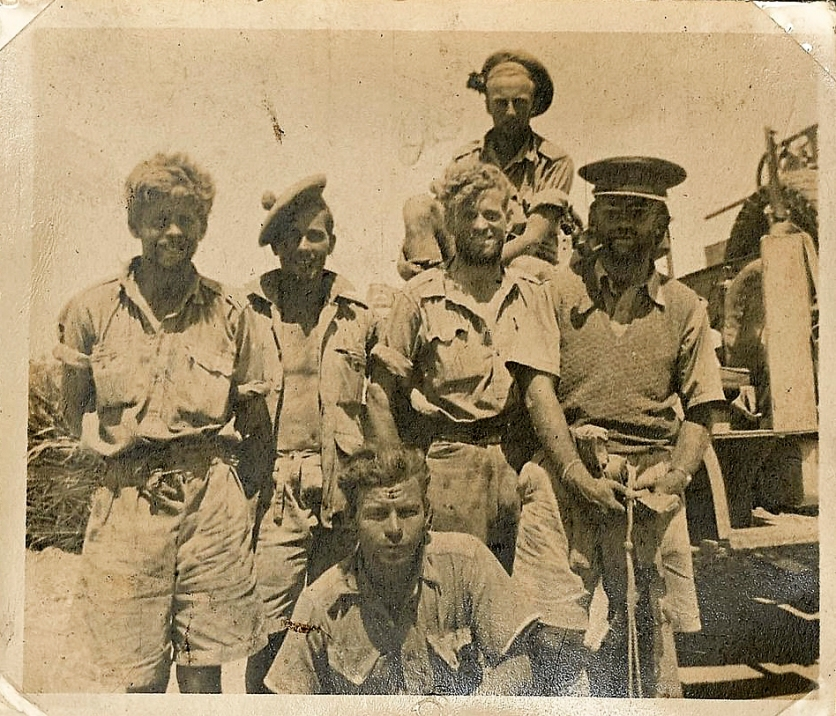 One of Fred Casey's photo album images featuring a ragged looking group of L Detachment SAS soldiers in the Western Desert, 1942. Photo: Fred Casey