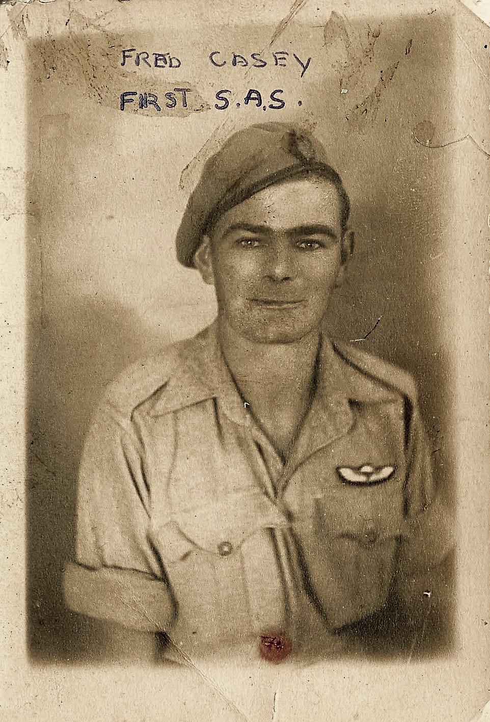 Studio portrait of Frederick Casey 1 SAS.