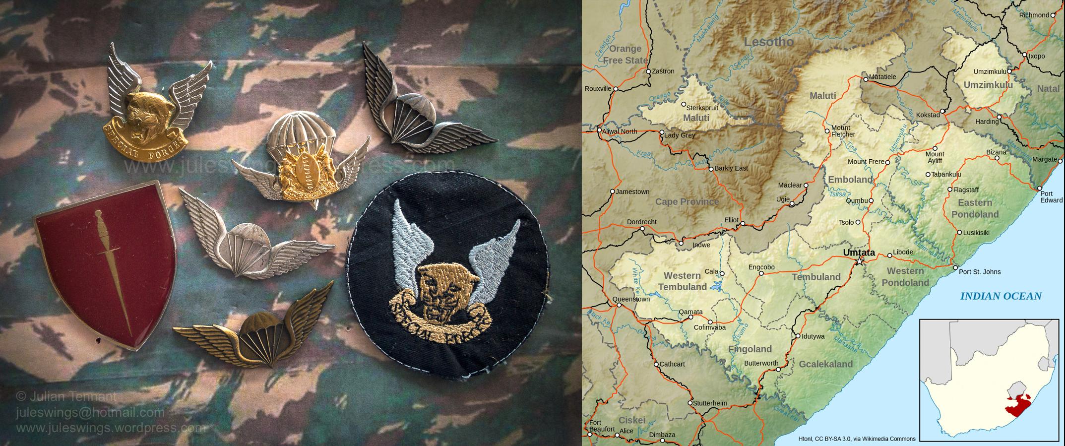 transkei airborne insignia juleswings map