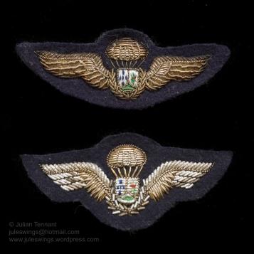 Grupos Especiais Para-quedistas (GEP) dress uniform bullion parachute qualification wings. Collection: Julian Tennant