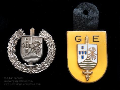 Grupos Especiais (GE) beret badge and pocket crest. Collection: Julian Tennant