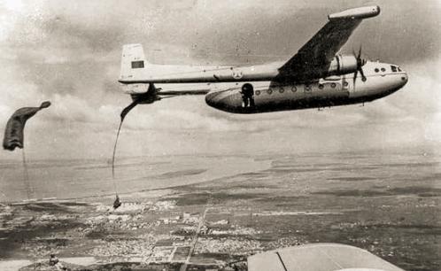 Parachute drop from a Nord Atlas