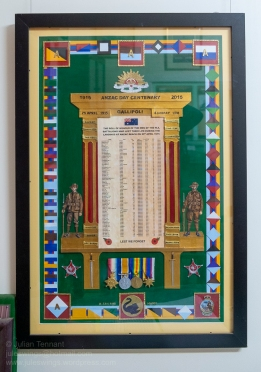 Roll of Honour of the men of the Western Australian battalions who lost their lives during the landings at ANZAC Beach on 25 April 1915. Photo: Julian Tennant