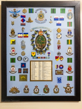 Display board featuring the names of the Geraldton RSL Vietnam veterans and the units tht they served with. Photo: Julian Tennant