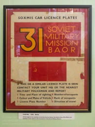 British Army On the Rhine (BAOR) Cold War poster circa 1959. Photo: Julian Tennant