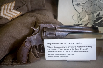 Belgian manufactured service revolver brought back after the First World War. Photo: Julian Tennant
