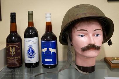 Booze and older pattern Australian Army M1 type helmet. Photo: Julian Tennant