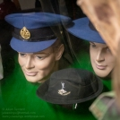 Post WW2 RAAF other ranks cap and an unusually dark (nearly black) Australian Army female RASigs hat. Photo: Julian Tennant